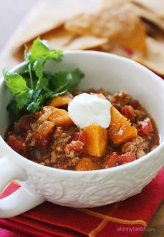 No Bean Turkey and Sweet Potato Chili Recipe