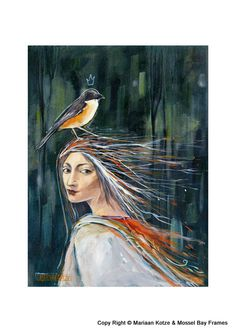 Mariaan Kotze Prints - for sale : A3, Random Stuff, Angels, Artists, Detail, Painting, Random Things, Artist, Painting Art
