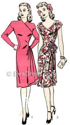 1943 Kimono Wrap Dress D40-3863