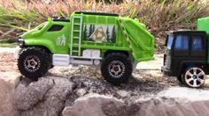 3 Toy Garbage Trucks Going Out On Their Trash Pick Up #garbagetrucksrule
