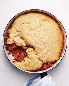 Cornbread-and-Chili Pie, Recipe from Martha Stewart Living,