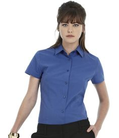 B&C Ladies Heritage Short Sleeve Shirt http://www.impogo.co.uk/b-c-ladies-heritage-short-sleeve-shirt-18.html?gender=3