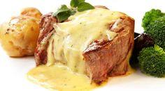 Solomillo de cerdo con salsa De queso thermomix