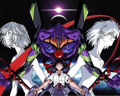 Neon Genesis Evangelion (1995 - 1996). When it got out it was a smash, a legend. Now it is still a legend. Favourite characters: Rei Ayanami and the final angel.
