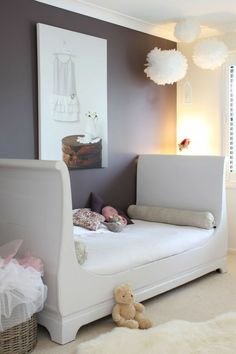 Youth Room Failed Youth Bed Gray Wall Color Girl Room Decoration