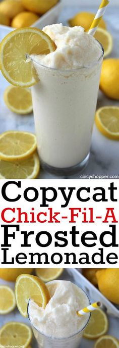 CopyCat Chick-fil-A Frosted Lemonade- Amazing cold and refreshing treat for summ. CopyCat Chick-fil-A Frosted Lemonade- Amazing cold and refreshing treat for summer. Super Simple to make at home. Plus this recipe will save. Cat Recipes, Cooking Recipes, Dishes Recipes, Cupcake Recipes, Recipes Dinner, Recipies, Cooking Pork, Cooking Turkey, Paleo Recipes