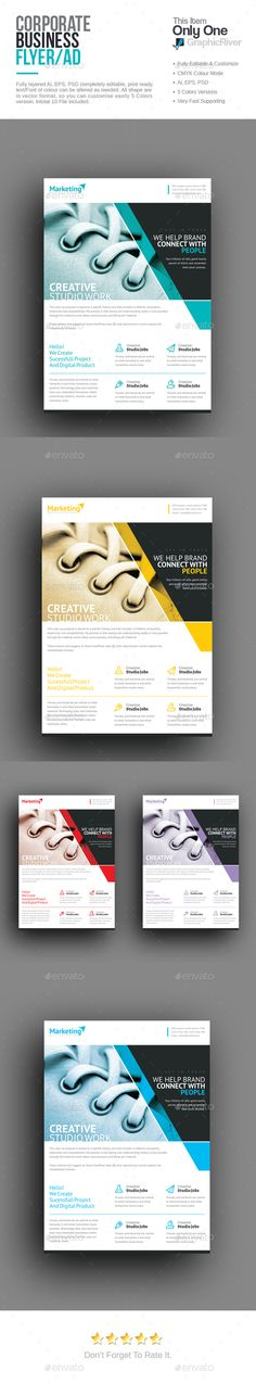 Clean Corporate Flyer Template Design Inspiration Pinterest - corporate flyer template