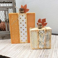 mambiSHEETS Pumpkin Blocks craft by mambi Deisgn Team member Jen Randall | me & my BIG ideas