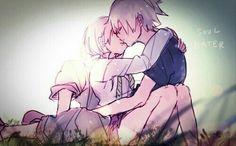 Soul and Maka kiss 2