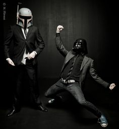 Boba Fett & Darth Vader. Suits & chucks. i want my bf to be like this someday. if i get one, that is.