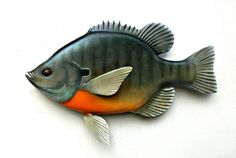 16 Inch, Bluegill Sunfishart Sculpture Woodcarving Collectable Fishing Art…