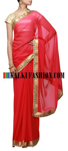 Buy Online from the link below. We ship worldwide (Free Shipping over US$100) http://www.kalkifashion.com/pink-saree-enhanced-in-embroidered-border-along-with-lurex.html Pink saree enhanced in embroidered border along with lurex