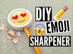 DIY Emoji Sharpener ☆ Quick & Easy! //EliseLife - YouTube