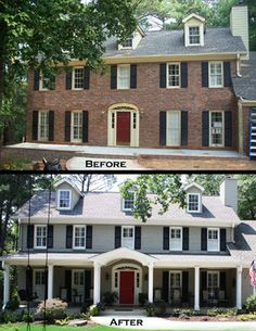 Exterior Porch B&A - traditional - before photos - atlanta - Green Basements & Remodeling