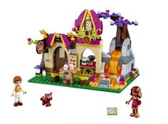 Azari and the Magical Bakery: includes 2 mini-doll figures, fox, lavafall, sliding oven, opening door and lots of baked goods. #LEGO #Elves #LEGOElves
