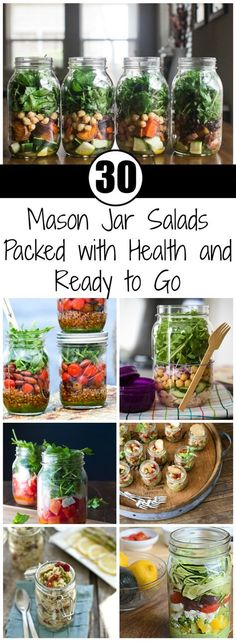Just pour all the ingredients inside, shake it a bit, and you're good to go. Bring your mason jar salad with you on a picnic or to work. And the best part is that you can prepare it in the morning or the evening before. Let's take a look at some salad options.