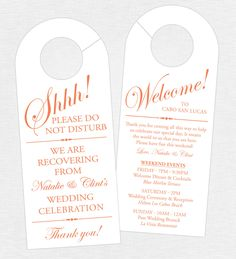 Wedding Door Hanger Please Do Not Disturb Door Hanger Door