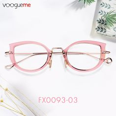 2fbb4f7a11ba Patience Cat Eye Pink Eyeglasses Made of premium acetate and metal  material