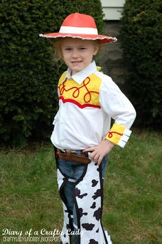Diary of a Crafty Lady: Cowgirl Jessie Halloween Costume