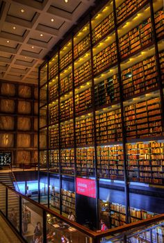 Beinecke Rare Book & Manuscript Library, New Haven, Connecticut, USA. i think i would die and go to heaven if i could work there.