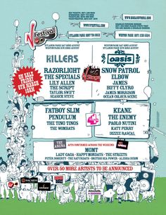 V festival 2009 - Oasis pulled out at the last minute, only band I wanted to see. Nice day out in the sunshine though Weston Park, Definitely Maybe, Snow Patrol, Sensory Overload, Lily Allen, Britpop, Festival Posters, Bruce Springsteen, Its A Wonderful Life