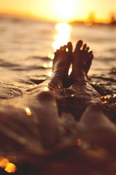 Sunset swims.