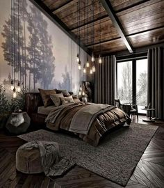 For those looking to make their bedroom look good, adopting a modern bedroom design style isn't actually a bad idea. Here are some easy ways you can redo your bedroom Design bedroom Easy Ways To Remodel A Modern Bedroom + 50 HD Pictures - House Topics Dream Rooms, Dream Bedroom, Nature Bedroom, Nature Inspired Bedroom, Loft Style Bedroom, Japanese Inspired Bedroom, Dream Bathrooms, Modern Bedroom Design, Bedroom Designs