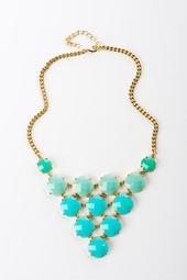 Mediterranean Sea Bib Necklace $32 - Francesca's Collections