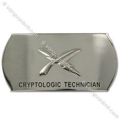 Navy Enlisted Specialty Belt Buckle: Cryptologic Technician: CT