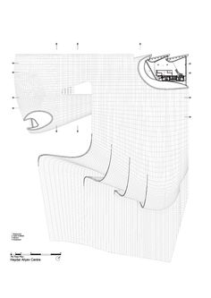 Image 39 of 52 from gallery of Heydar Aliyev Center / Zaha Hadid Architects. Site Plan + Section Zaha Hadid Design, Zaha Hadid Architects, Arquitetos Zaha Hadid, Zaha Hadid Interior, Futuristic Architecture, Facade Architecture, Architecture Models, Organic Architecture, Abstract City