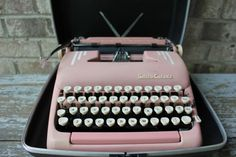 PINK Smith Corona SilentSuper vintage by carouselandfolk on Etsy, $355.00