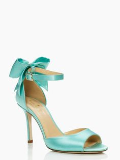 Fizzie heels, ivory & grace blue