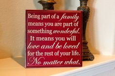 12x12 Family quote board by PersonallyPoshDesign on Etsy