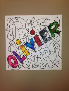Line colors name - Art Lesson Plans Camping Art, Art Folder, Name Art, Art, Childrens Art, Art Lessons Elementary