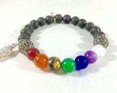 Buddha Bracelet Chakra Jewelry Yoga Bracelet por GemDesignStore