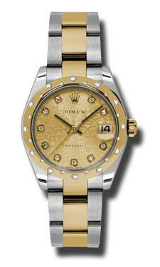 Rolex - Datejust 31mm - Steel and Gold Yellow Gold - 24 Dia Bezel - Oyster #178343CHJDO
