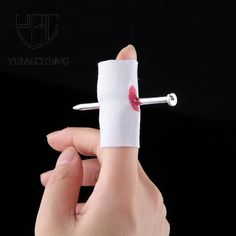 Horror Fun Fake Nail Through Finger Blood Trick Jokes Gag Toys Funny Halloween Antistress Practical Novelty Toys For Children