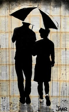 "Saatchi Online Artist: Loui Jover; Pen and Ink, 2013, Drawing ""love and rain"""