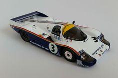 Porsche 956 (1983 Le Mans Winner) | 1:43 Scale Model Car by Spark | Overhead