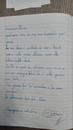 Classe Terza-Italiano-la Lettera- Settembre - Maestra Anita Sheet Music, Bullet Journal, Math Equations, Music Score, Music Notes