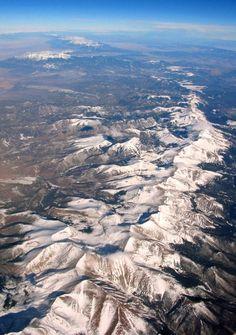 USA - park narodowy Gór Skalistych - Góry Skaliste widok z samolotu