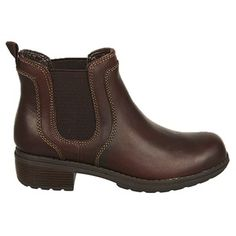Eastland Women's Double Up Ankle Boots (Brown Leather)