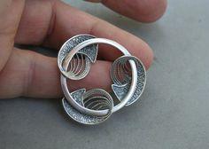 Scandinavian Motif Vintage Beau Sterling Silver Circle Pin Modern Mid Century   eBay