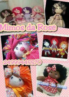 Boneca  curta nosso face mimos da rose