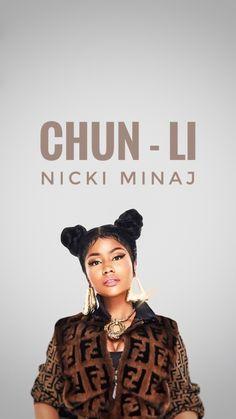 Nicki Minaj : Chun - Li Lockscreen wallpaper. By - Ysm Johan.