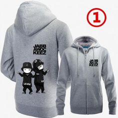 Jabbawockeez Cartoon Dancer Logo Zip Up Hoodies