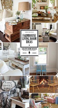 Farmhouse Living Room Decor and Furniture Ideas