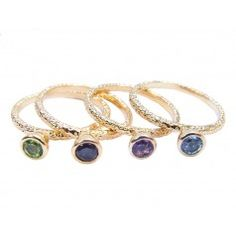 Vintage inspired gold stacking rings