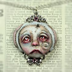 Original Cameo Sculpture Steampunk Soul Sad by michelelynchart, $55.00
