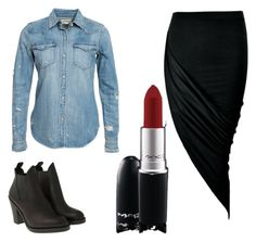 """""""serenay"""" by erguclu ❤ liked on Polyvore featuring Acne Studios, Denim & Supply by Ralph Lauren and MAC Cosmetics"""
